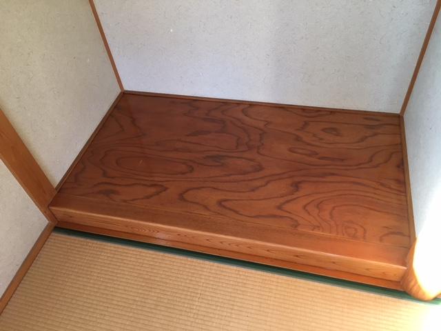 倉敷市 K様邸 床の間塗装