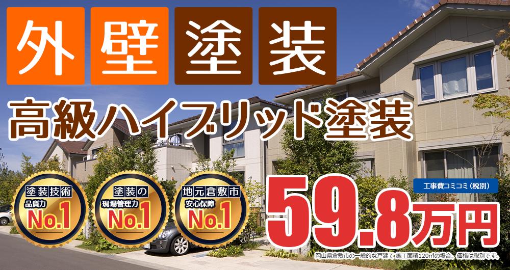 美観性シリコンラン塗装 59.8万円(税込65.7万円)