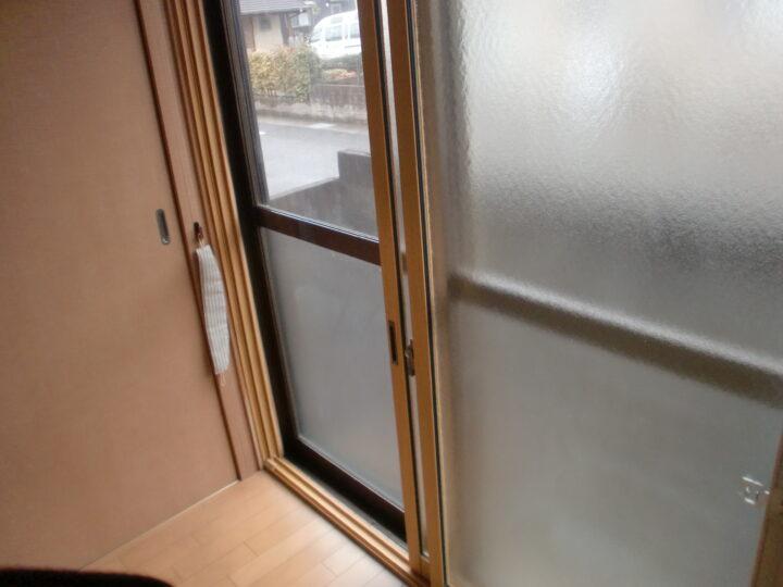 施工後の窓を開けた様子