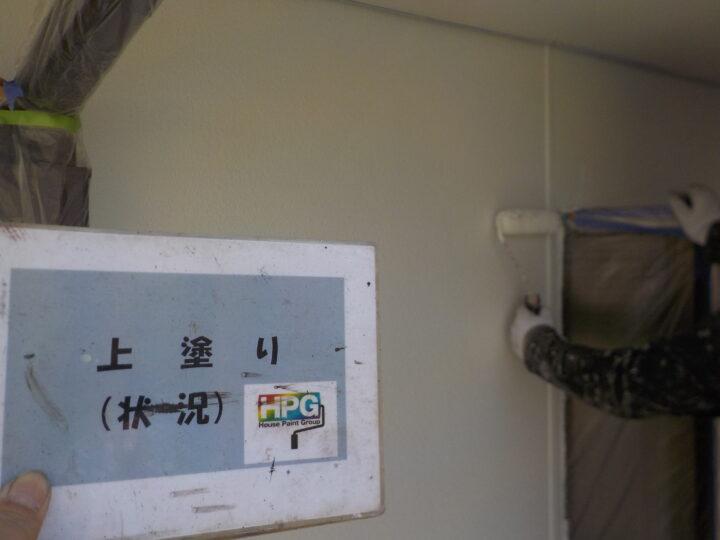 上塗り(2階部分)