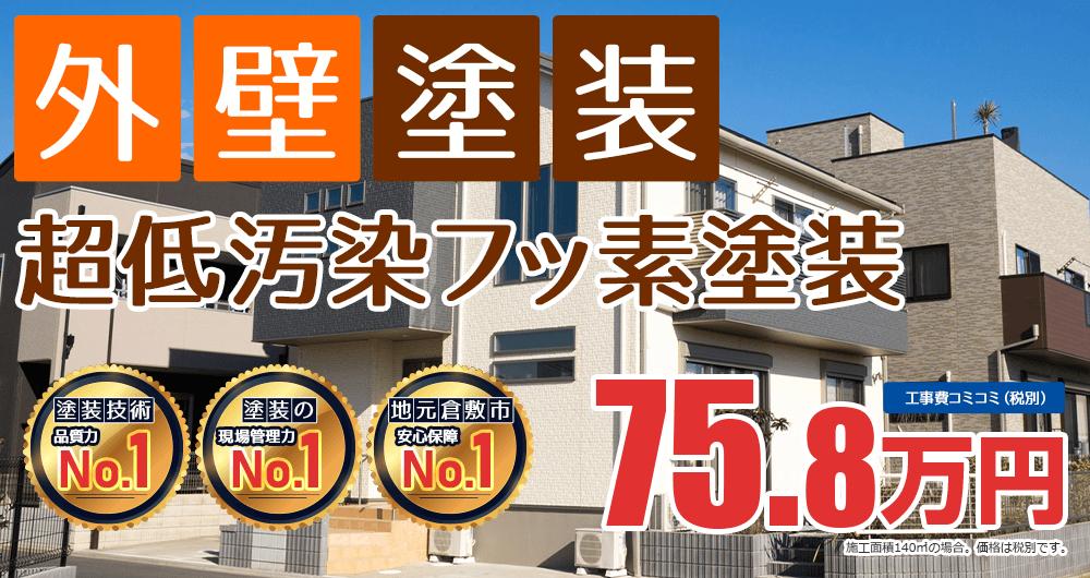 フッ素塗装プラン塗装 75.8万円(税込83.3万円)