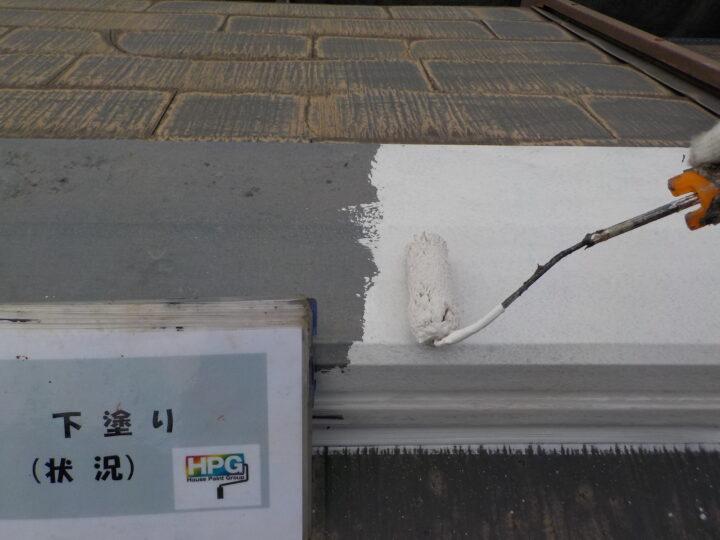 屋根鉄部下塗り